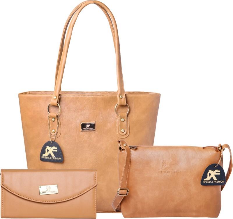 Sxf Speed X Fashion Women Beige Shoulder Bag