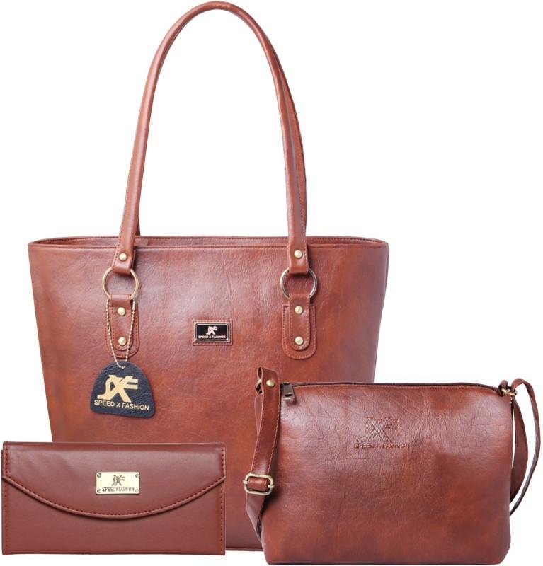 Sxf Speed X Fashion Women Brown Shoulder Bag