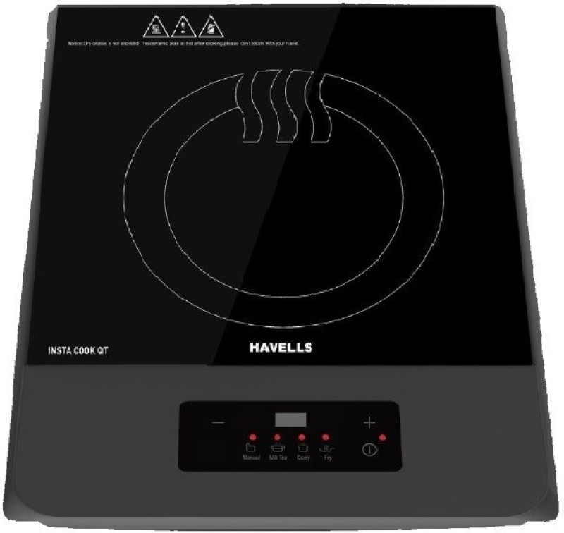 Havells INSTA COOK QT Induction Cooktop(Grey, Push Button)
