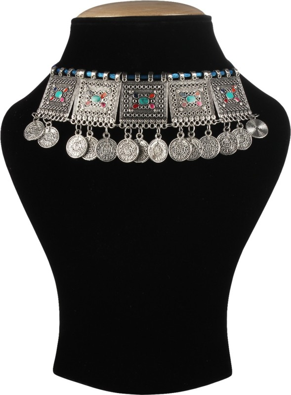 DARSHINI DESIGNS German silver trendy necklace set for women Alloy Necklace