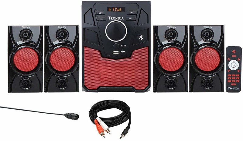 Tronica Republic 4.1 Home Theater System with Bluetooth/SD Card Bluetooth Home Theatre(Black, 4.1 Channel)