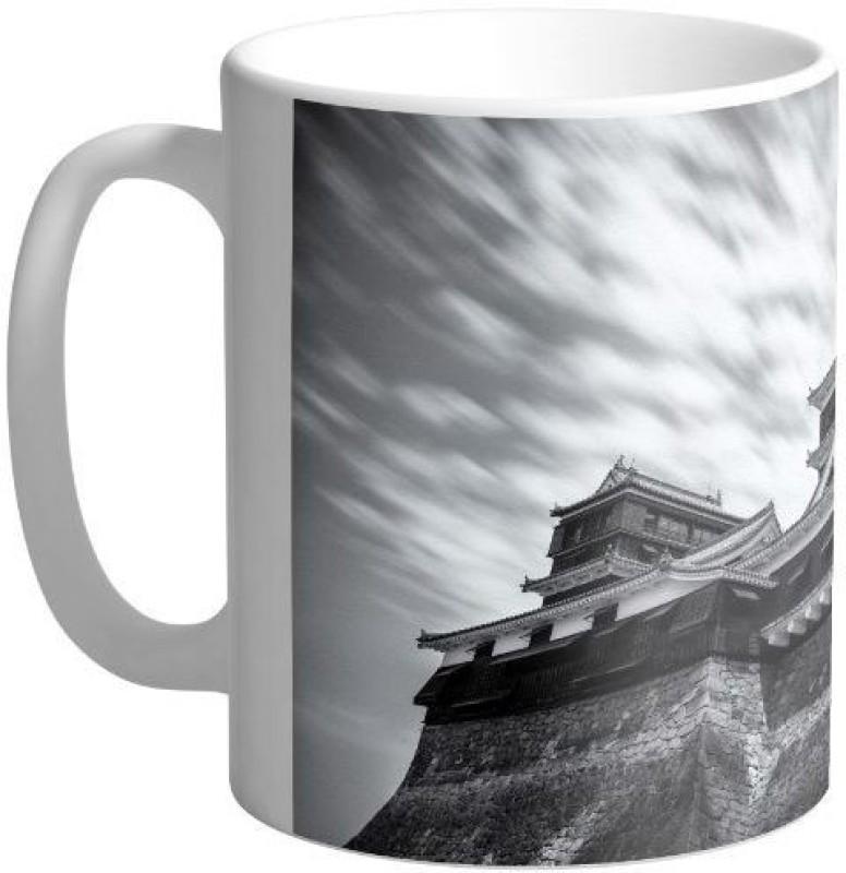 Arkist kumamoto castle black and white wallpaper Ceramic Mug(340 ml)