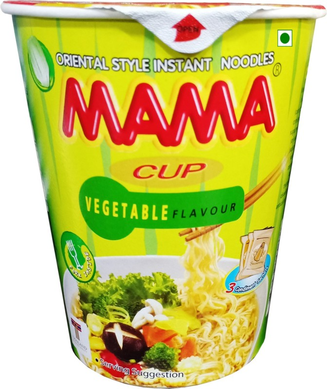 Mama Vegetable Cup Noodles, 60gm Cup Noodles Vegetarian(60 g)
