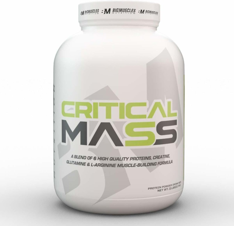 BIGMUSCLES NUTRITION Critical Mass Weight Gainers/Mass Gainers(6 pounds, Strawberry)