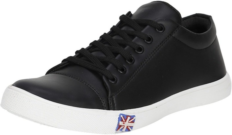 FootZilla College party wear synthetic trendy shoes Sneakers For Men(Black)