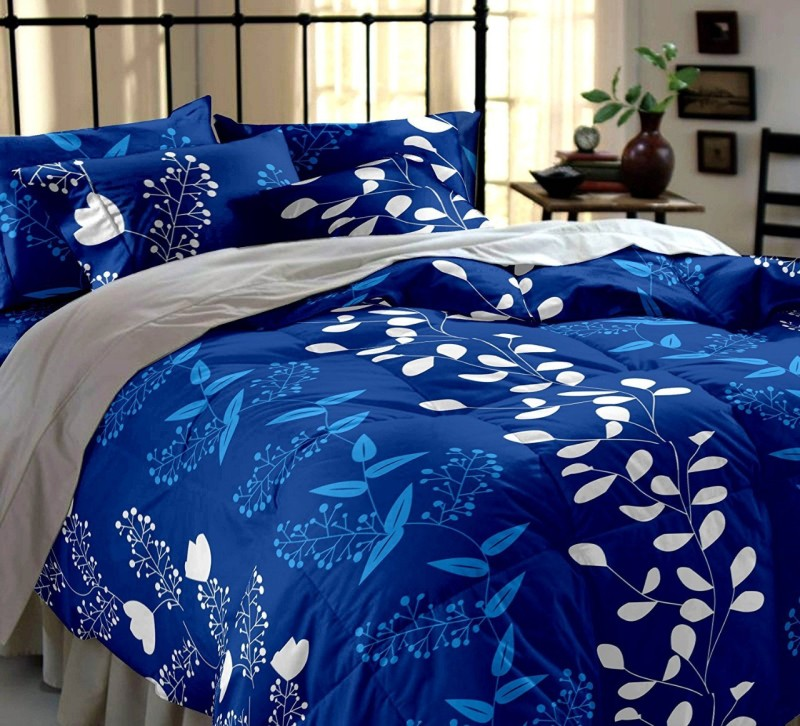 Decor Home 140 TC Microfiber Double Printed Bedsheet(Pack of 1, Multicolor)