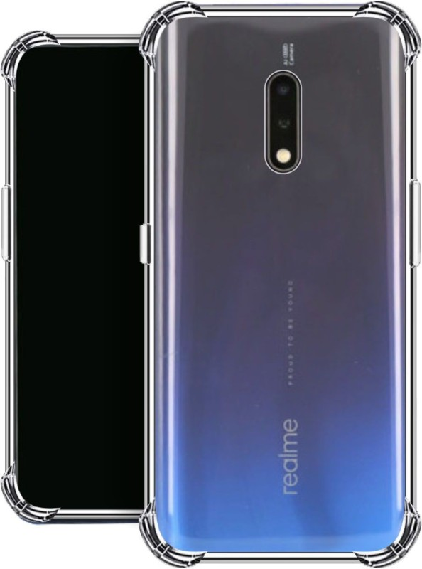 Affix Back Cover for Realme X(Transparent, Dual Protection, Silicon)