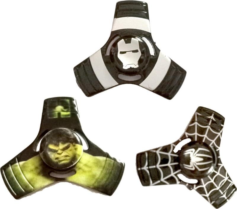 MASHKI 3 IN 1 PREMIUM QUALITY FIDGET SPINNER - IRON MAN, HULK,(Multicolor)