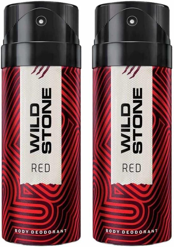 Wild Stone Red Deodorant Spray Pack of 2 Combo (150ML each) Deodorant Spray - For Men(300 ml, Pack of 2)