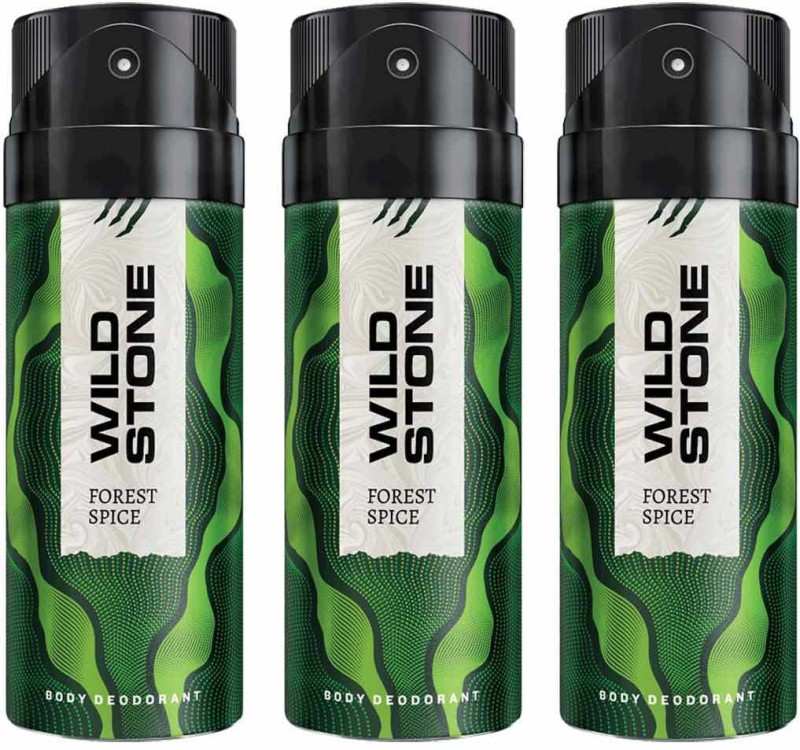 Wild Stone Forest Spice Deodorant Spray Pack of 3 Combo (150ML each) Deodorant Spray - For Men(450 ml, Pack of 3)