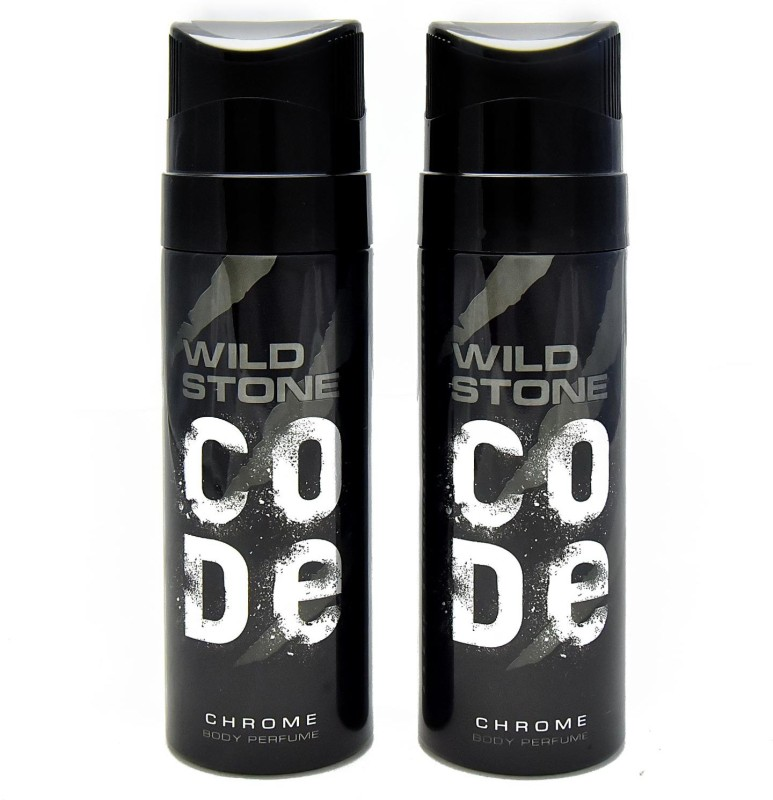 Wild Stone Code Chrome No Gas Deodorant Spray - For Men(120 ml, Pack of 2)