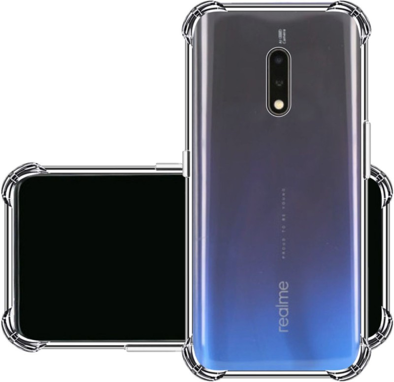 Bibossi Back Cover for Realme X(Transparent, Dual Protection, Silicon)