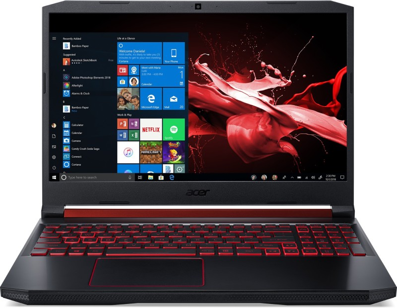 Acer Nitro 5 Core i7 9th Gen - (8 GB/1 TB HDD/256 GB SSD/Windows 10 Home/4 GB Graphics/NVIDIA Geforce GTX 1650) AN515-54-742F Gaming Laptop(15.6 inch, Obsidian Black, 2.3 kg)