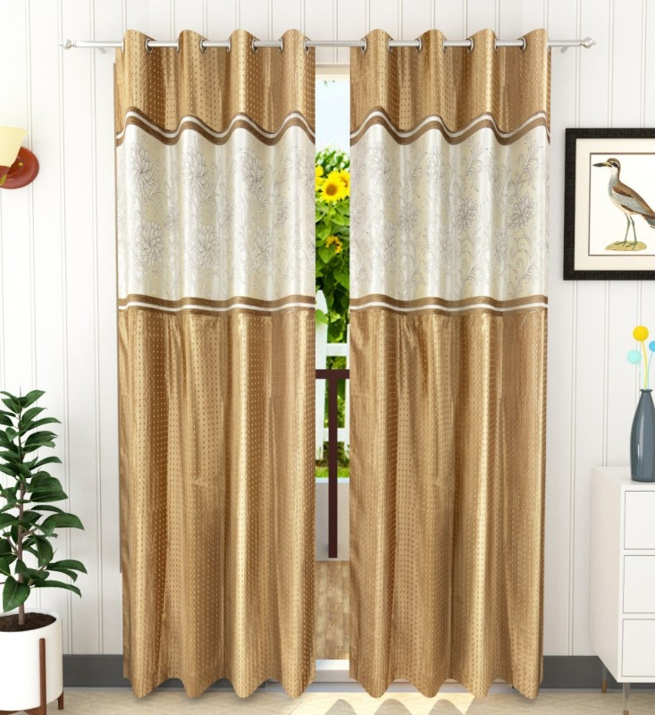 check MRP of white and gold curtains ROYAL TREND