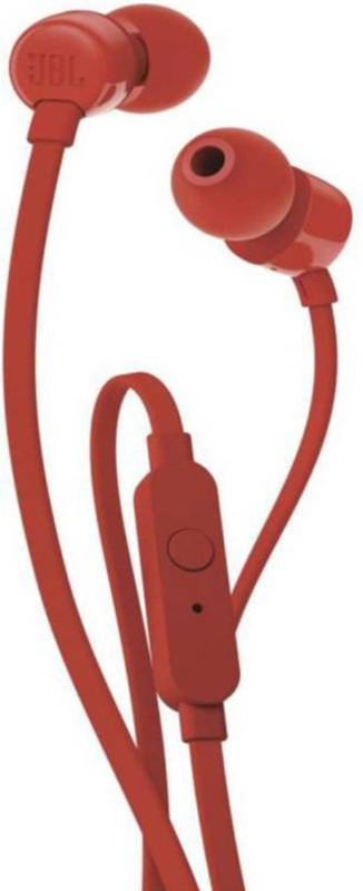 JBL Tune 110 Wired Headset with Mic(Red, In the Ear)