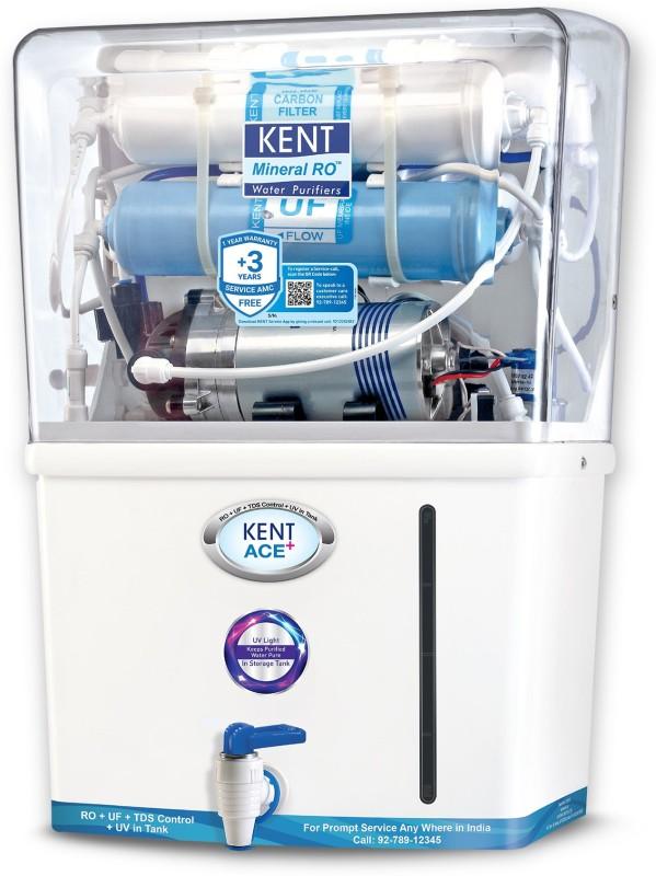 Kent Ace Plus 8 L RO + UV + UF + TDS Water Purifier(White)