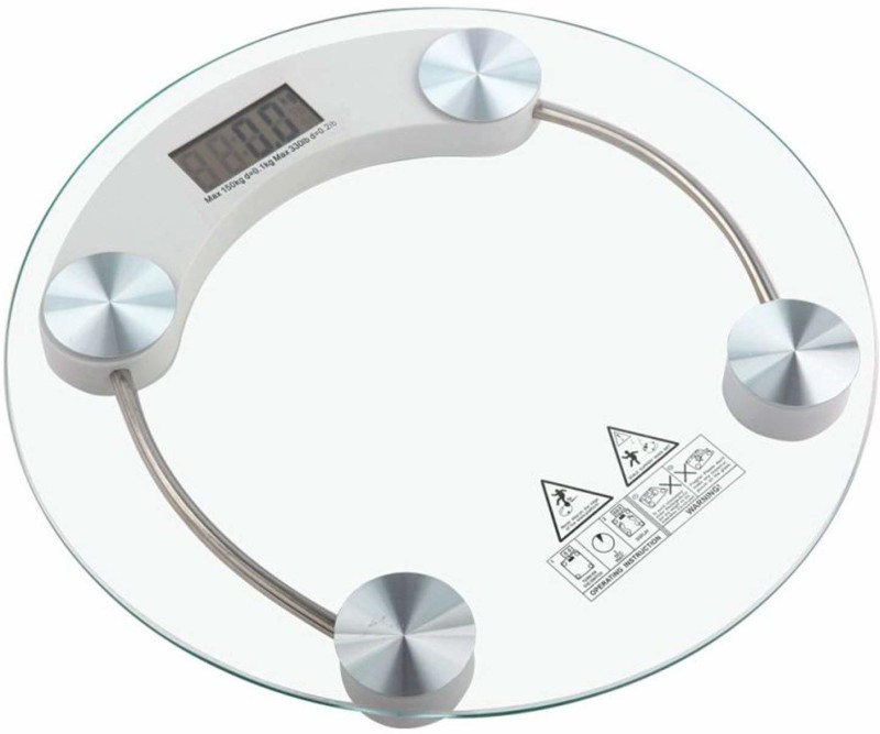 Modren Personal Health Human Body Weight Machine X2003A 8mm Round Glass Weighing Scale(White)