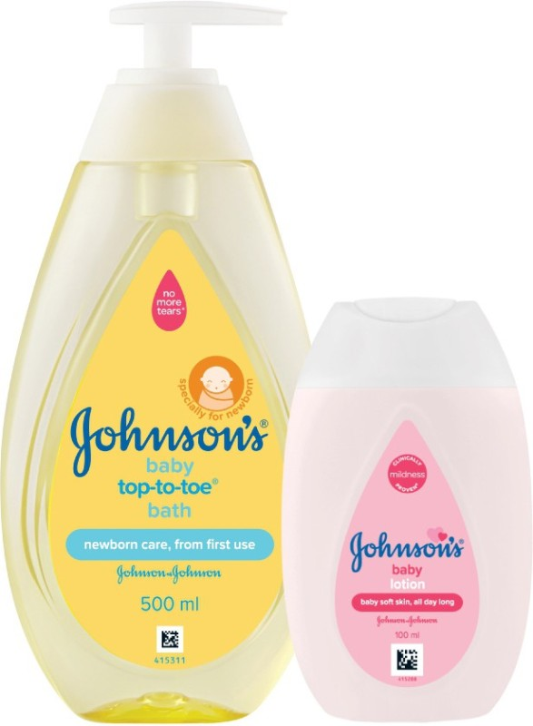 Johnson's Baby Top to Toe Bath with Lotion(Multicolor)