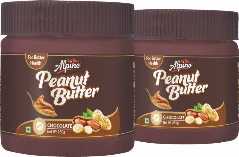 Alpino Chocolate Peanut Butter (250g Pack of 2) 500 g(Pack of 2)