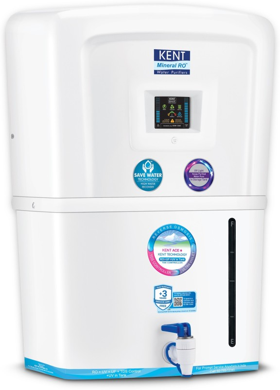 Kent Ace Star (11081) 8 L RO + UV + UF + TDS Water Purifier(White)