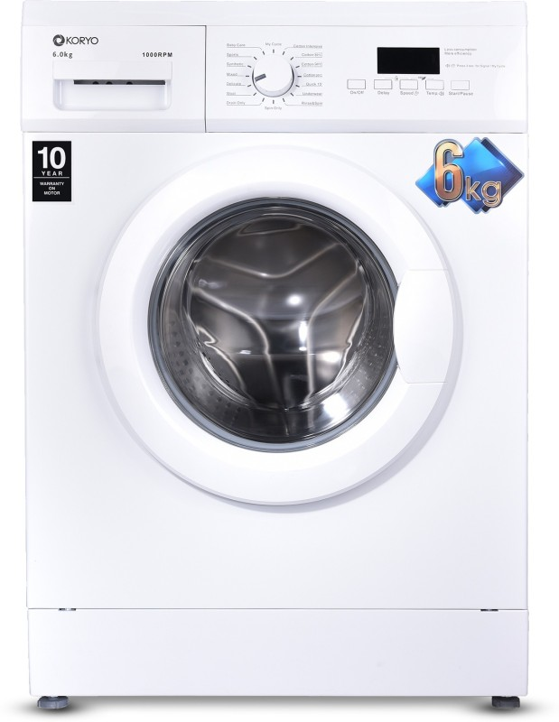 Koryo 6 kg Fully Automatic Front Load with In-built Heater White(KWM1060FL)