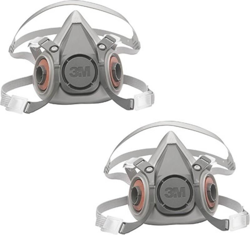 3M Half Facepiece Reusable Respirator, Without Cartridges (Pack of 2, Medium) 6200_PK2 Mask and Respirator