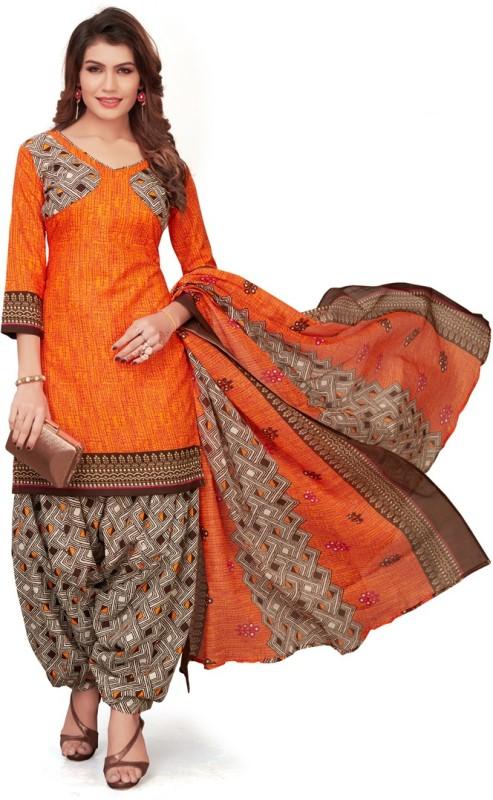 Saara Polycotton Geometric Print, Printed Salwar Suit Material(Unstitched)