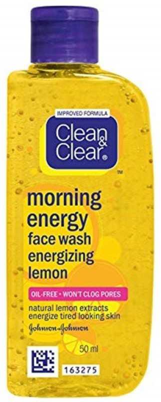 Clean & Clear Morning Energy Face Wash Energizing Lemon 50ml Face Wash(50 ml)