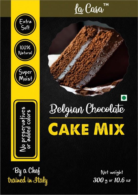La Casa Belgian Chocolate Eggless Cake Mix 300 g