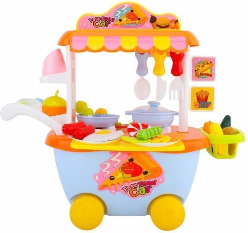Penadia Baby Toy Set Kitchen Playset Fast Food Car Trolly Buy