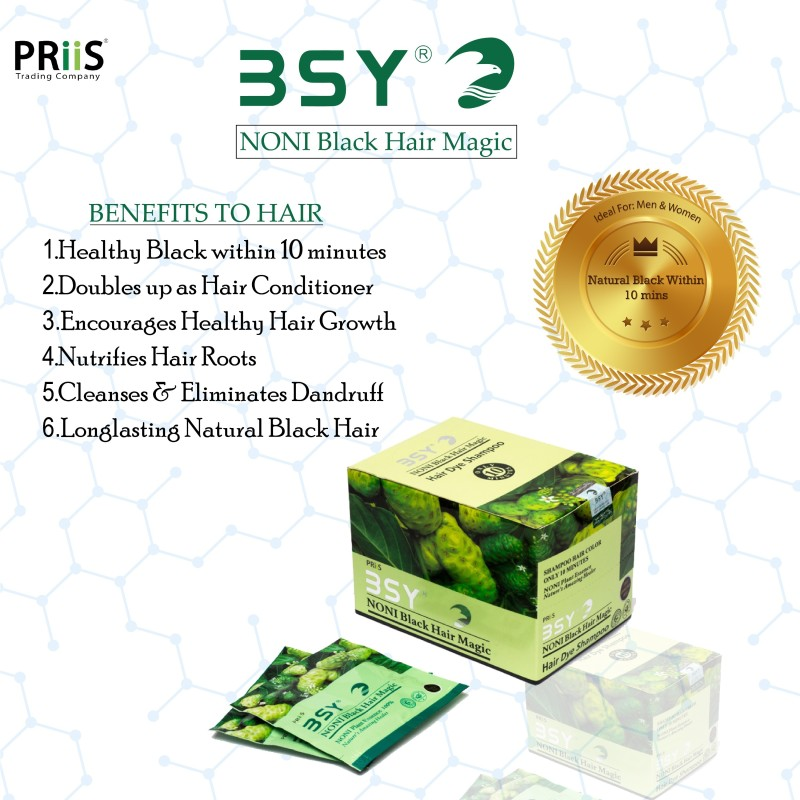 BSY Ammonia free Shampoo  Hair Color(Natural Black)