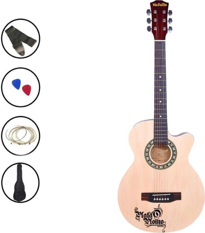 medellin MED-NAT-C Linden Wood Acoustic Guitar(Brown)