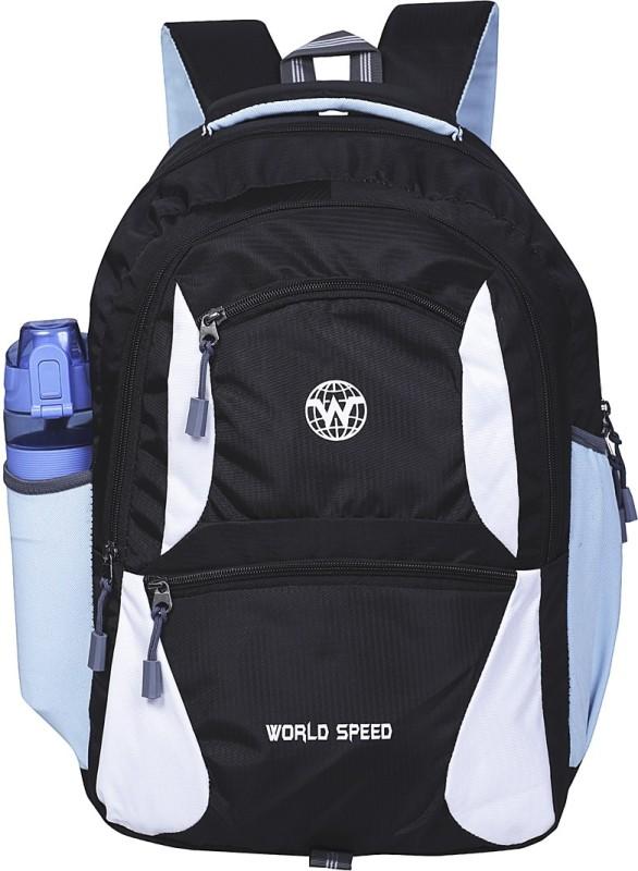 World Speed Backpack1 10 L Laptop Backpack(Black)
