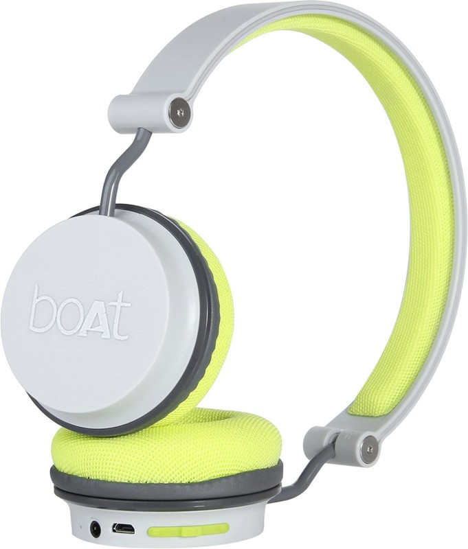 boAt Rockerz 400 Super Extra Bass Bluetooth Headset with Mic(Green, Grey, On the Ear)