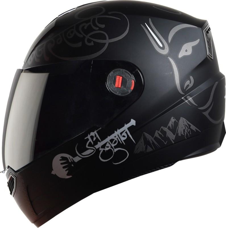 Steelbird SBA-1 mahavir Painted with Smoke visor Motorbike Helmet(Matt Black / Grey)