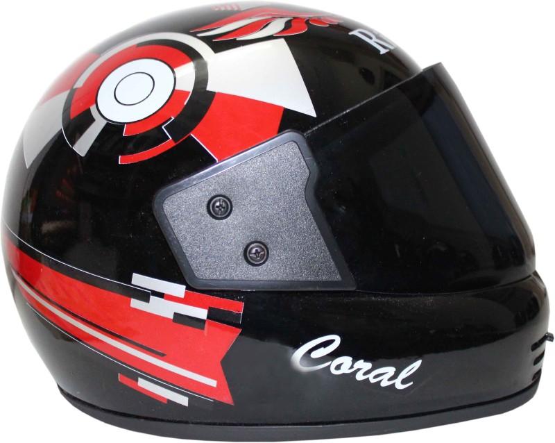 Rider Star RIDER NEW RED BALL Motorbike Helmet(Red, Black)
