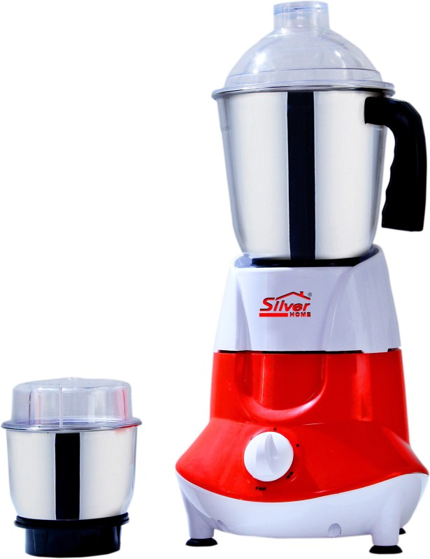 Silver Home ELANTRA01 450 Mixer Grinder(RED AND WHITE, 2 Jars)