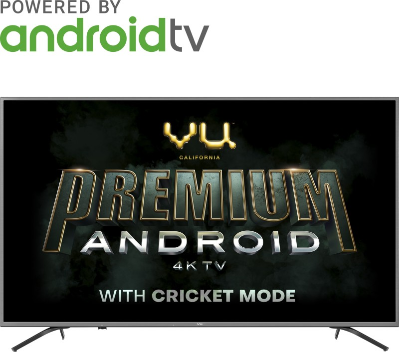 Vu Premium Android 126cm (50 inch) Ultra HD (4K) LED Smart Android TV with Cricket Mode(50-OA)