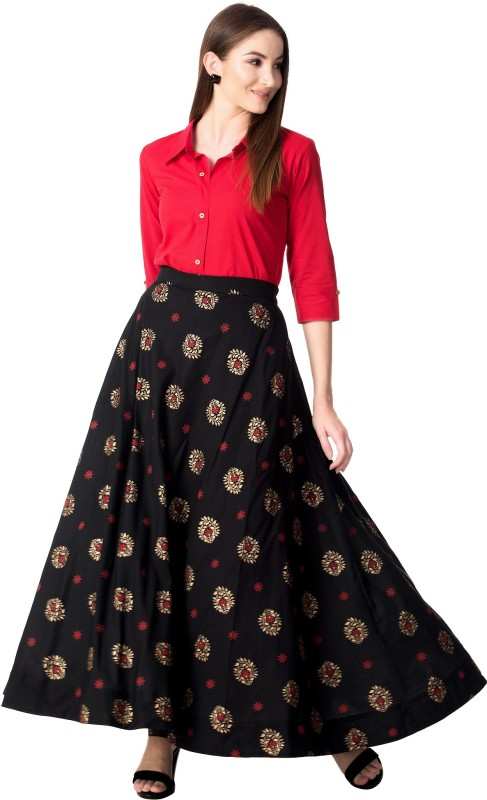 Khushal K Women Ethnic Top and Skirt Set