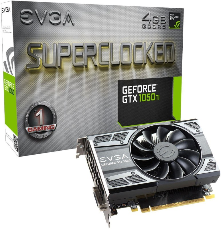 EVGA NVIDIA GeForce GTX1050Ti 4GB GDDR5 PCI-E Graphics Card 4 GB GDDR5 Graphics Card