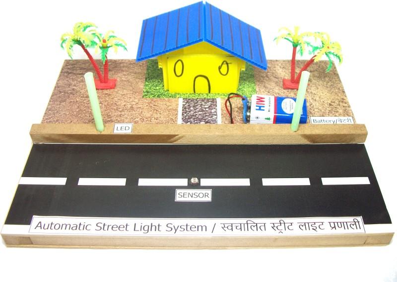 leftbrain creation Automatic Street Light Working Science Project Model Building Kit