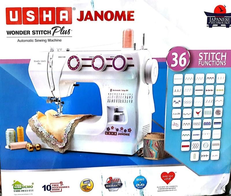 Usha Wonder Stitch Plus Electric Sewing Machine( Built-in Stitches 32)