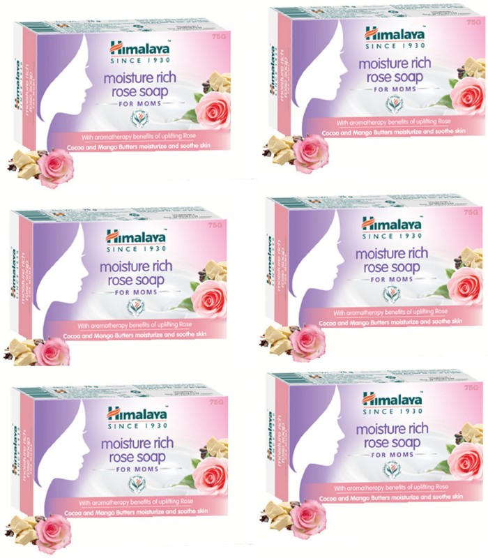 Himalaya Moisture rich Rose Moms Bar(6 x 75 g)