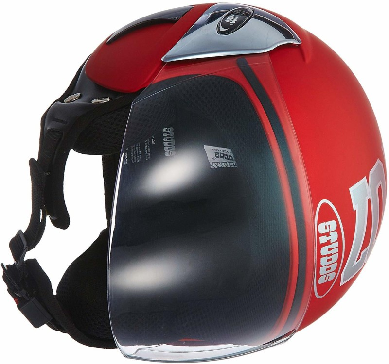 Studds SDT66015 Motorbike Helmet(Red)