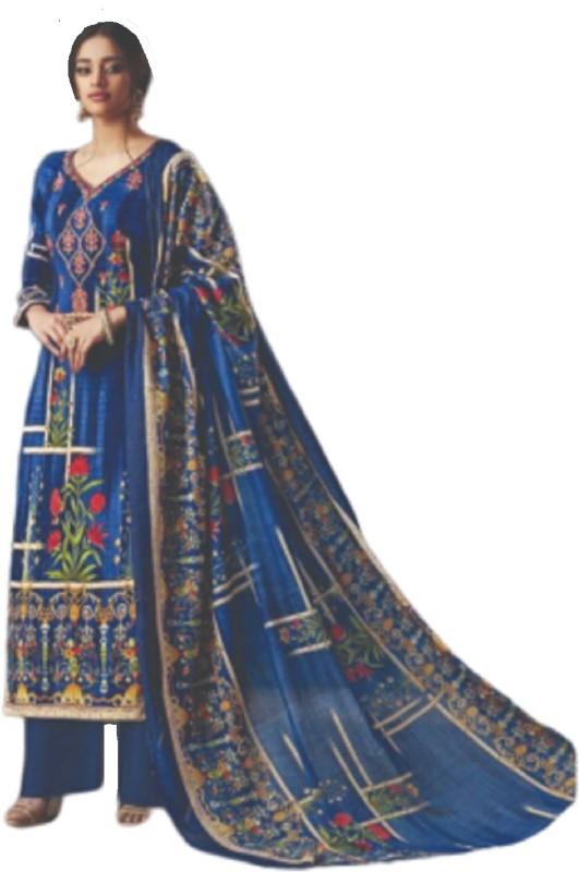 D.S.FABRICS Cotton Printed Salwar Suit Material(Unstitched)
