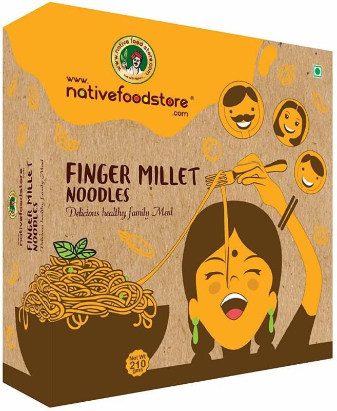 Nativefoodstore Ragi/Finger Millet Noodles Hakka Noodles Vegetarian(210 g)