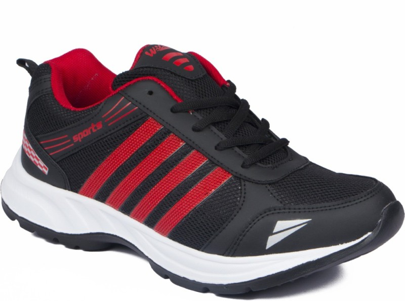 Asian WNDR-13 Running Shoes For Men(Red, Black)