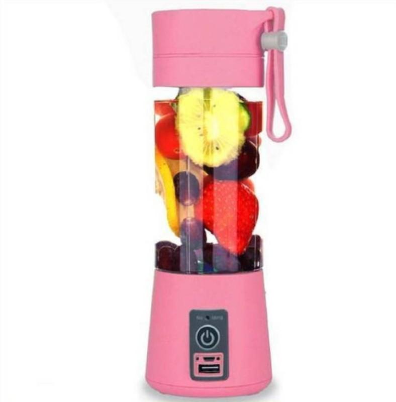 Gabbar ® Rechargeable Portable Electric Mini USB Juicer Bottle Blender for Making Juice, Shake, Smoothies , Travel Juicer For Fruits And Vegetables , Fruit Juicer For All Fruits , Juice Maker Machine , Juicer Hand Machine 12 Juicer(Pink, 1 Jar)