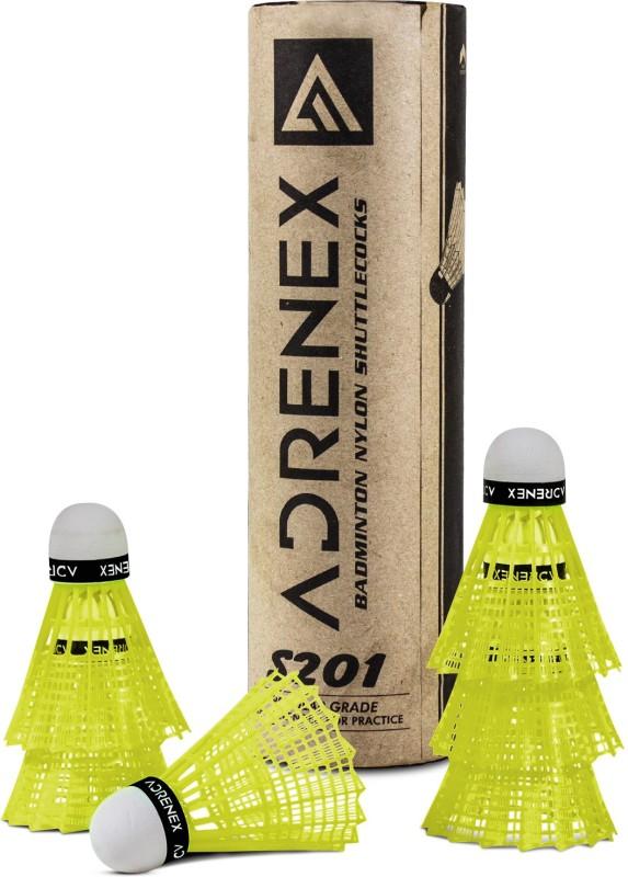 Adrenex by Flipkart S201 Nylon Shuttle - Yellow(Slow, 75, Pack of 6)