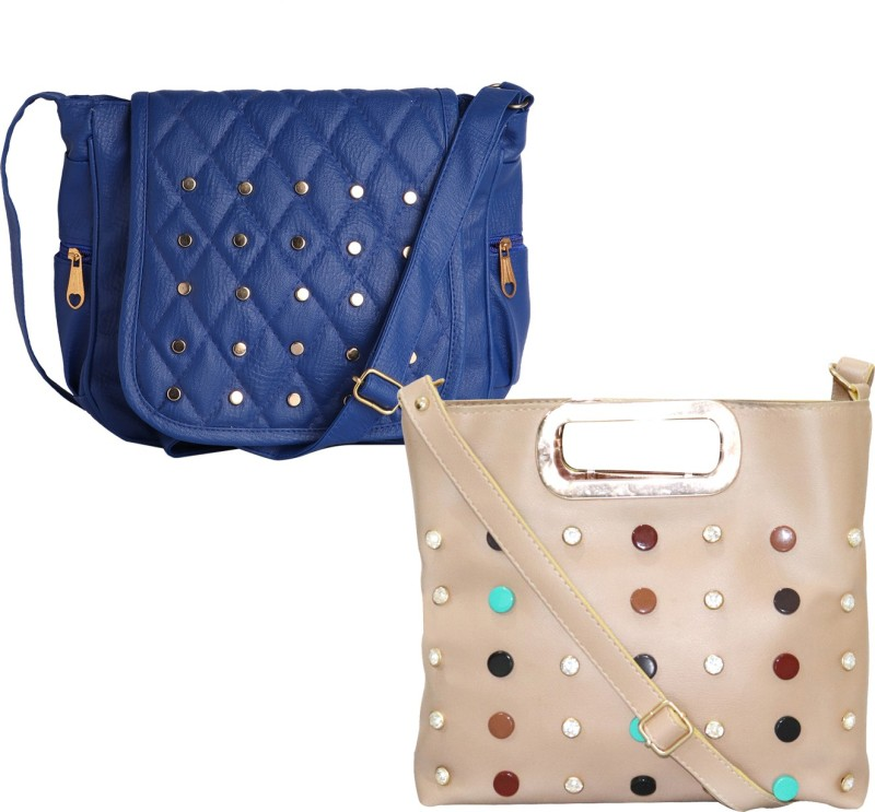 Stropcarry Beige, Blue Sling Bag